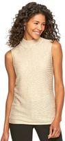 Dana Buchman Women's Ribbed Mockneck Sweater