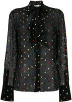 Givenchy polka dot embroidered shirt