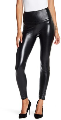 Love, Fire Faux Leather Stretch Leggings