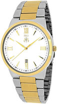 Jivago Clarity Mens Silver-Tone Dial and Two-Tone Stainless Steel Watch