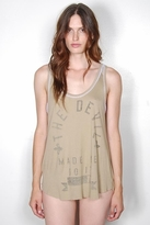 Rebel Yell Devil Made Me Do It Cinder Tank in Khaki