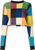 House of Holland colour block grid T-shirt