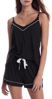 PJ Salvage Black Modal Camisole Pajama Set
