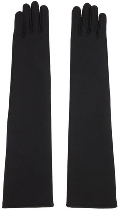 Sacai Black Wool Long Gloves