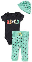 Baby Starters Baby Boys 3-9 Months ABCD Bodysuit, Lightning-Print Pants, & Hat Set