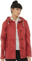 Fred Perry Womens Cropped Summer Parka Dark Hibiscus