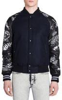 Lanvin Canyon Print Slim-Fit Leather Jacket