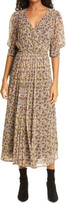 Birgitte Herskind Grith Floral Challis Wrap Dress