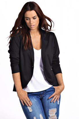 boohoo Plus One Button Ponte Blazer