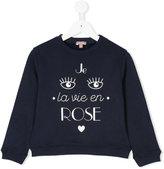 Emile et Ida eye motif sweatshirt