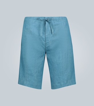 Loro Piana Coulisse Sprint Bermuda linen shorts