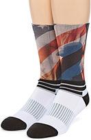 Asstd National Brand Boom Sox Sublimated American Flag Crew Socks