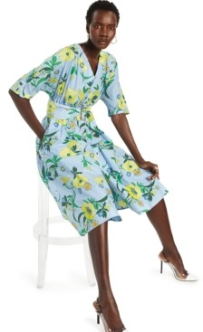 INC International Concepts Inc Cotton Printed Belted Shirtdress, Created for Macy's