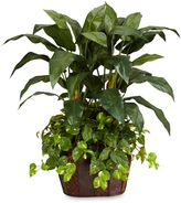 Bed Bath & Beyond Nearly Natural 4-Foot Double Bird of Paradise & Pothos Silk Plant with Vase