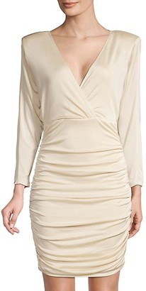 BCBGMAXAZRIA Eve Ruched Cocktail Dress