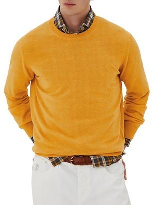 Brunello Cucinelli Two-Ply Cashmere Crew Sweater