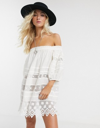 Free People Sounds of Summer tunic in cream