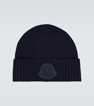 Moncler Tonal logo knitted beanie