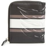 Alexander McQueen Men's Leather Half Zip Wallet - Black