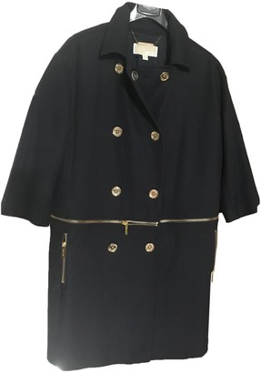 Michael Kors Navy Cotton Trench Coat for Women