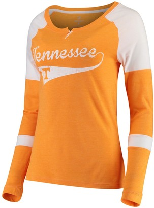 Colosseum Women's Tennessee Orange Tennessee Volunteers Routine Raglan Henley Long Sleeve T-Shirt