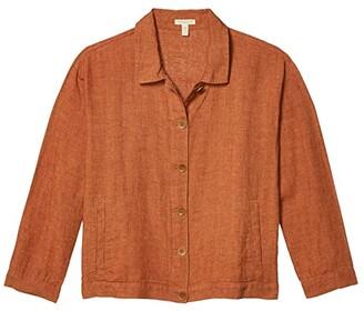 Eileen Fisher Petite Classic Collar Jacket (Cinnamon) Women's Jacket