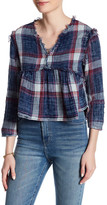 Fire Raw Edge Plaid Shirt