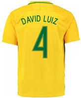 Nike 2016-17 Brazil Home Shirt (David Luiz 4) Yellow