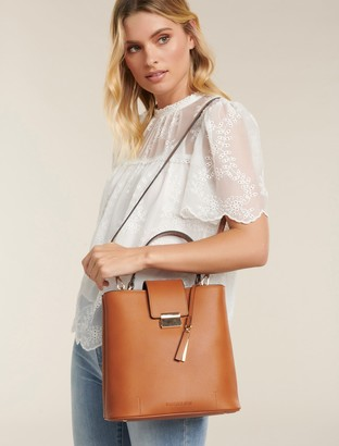 Forever New Steph Structured Bucket Bag - Tan - 00
