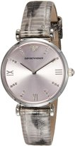 Emporio Armani Women's AR1882 Classic Analog Display Analog Quartz Grey Watch