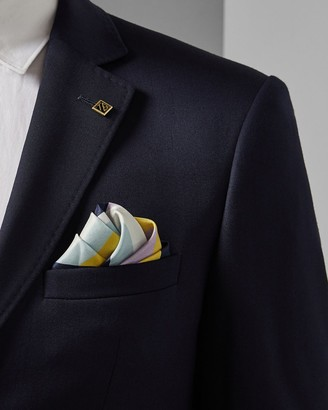 Ted Baker Stripe Silk Pocket Square