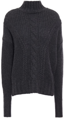 Autumn Cashmere Cable-knit Cashmere Turtleneck Sweater
