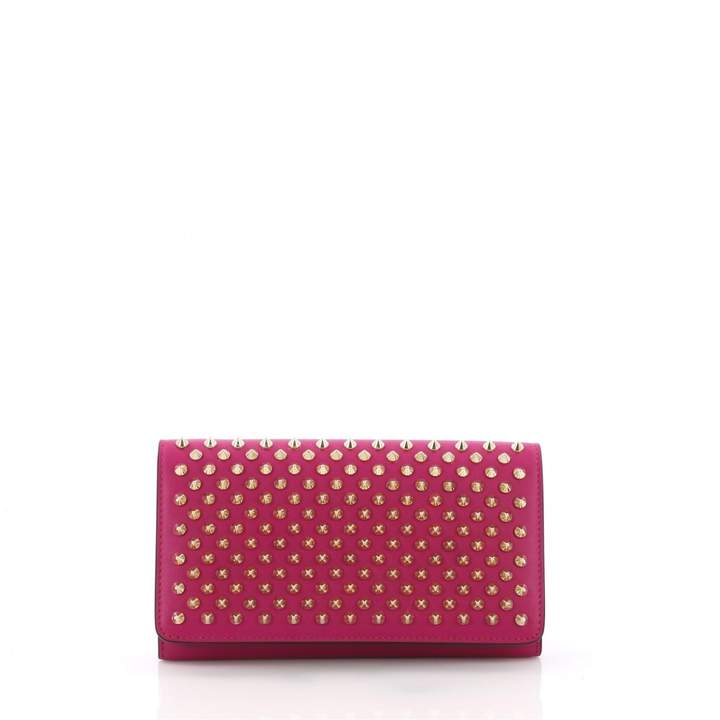 Christian Louboutin Pink Leather Clutch Bag