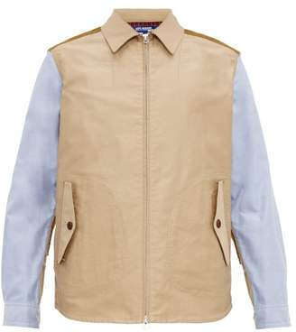 Junya Watanabe Patchwork Cotton Jacket - Mens - Blue Multi