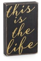 Saks Fifth Avenue This Is The Life Wooden Wall Plaque
