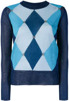 Twin-Set argyle knitted sweater