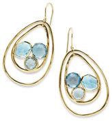 Ippolita 18K Rock Candy Pear-Shaped Wire Earrings in Midnight Rain