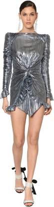 Metallic Jersey Mini Dress
