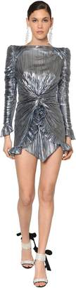 Raisa & Vanessa Metallic Jersey Mini Dress