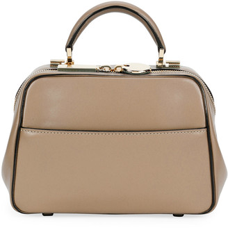 Valextra Small Glossy Calf Top-Handle Bag