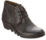 Fly London Pert Leather Wedge Bootie.