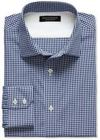 Banana Republic Slim-Fit Non-Iron Blue Gingham Shirt
