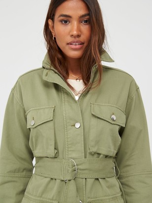 Very Belted Utility Jacket - Khaki