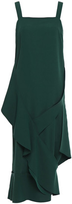 Chalayan Draped Crepe Midi Dress