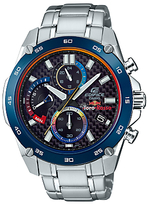 Casio Efr-557tr-1aer Edifice Torro Rosso Chronograph Date Bracelet Strap Watch, Silver/blue