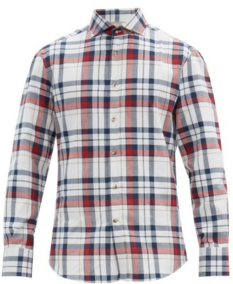 Brunello Cucinelli Checked Cotton-poplin Shirt - White Multi
