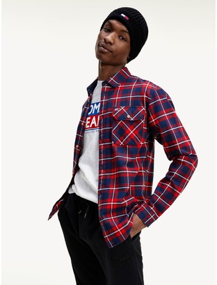 Tommy Hilfiger Organic Cotton Flannel Plaid Shirt
