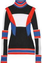 Emilio Pucci Color-Block Ribbed-Knit Turtleneck Sweater