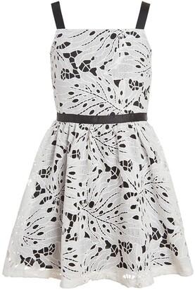Calvin Klein Eyelet Sleeveless Dress