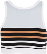 Alexander Wang Striped stretch-cotton sports bra